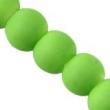 Sklen. korálky s pogumovaným efektom 8mm-zelené