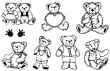 silikónové pečiatky-Roztomilé medvedíky