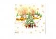 Zasnežená vianočná dedinka