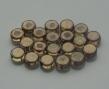 Sklenené peniažky 6 mm/20 ks/hnedofialové