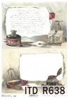 Ryžový papier 210x297mm- kalamáre a staré listy