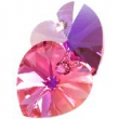 Swarovski heart pendants 6228- rose ab