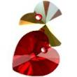 Swarovski heart pendants 6228- siam ab