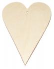 Veľké drevené srdce 20x12 cm