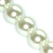 voskované perličky 12mm- 10 ks v balení-biele