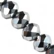 Sklenené rondelky 3x4mm/Silver/ 10 ks
