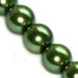 voskované perličky 12mm- 10 ks v balení-zelené