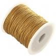 voskovaná niť 1 mm -cena za 1 m-zlatá