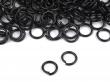 Spojovacie krúžky 5mm-10 ks/čierne