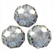 Sklenené briolette 8 mm-silver shade AB, 10 ks