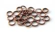 Spojovacie krúžky 6 mm/dvojité/10 ks/medené