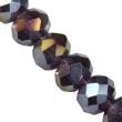 Sklenené rondelky 4.5x6 mm/10 ks v bal/Purple AB
