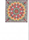 kvety a pávie oči na žltooranžovom podklade