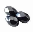 Sklenená brúsená OLIVA 07x5 mm/hematit/30 ks