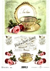 Ryžový papier 210x297mm- Vintage čajík