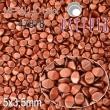 Voskované korálky POHÁNKA 5x3.5mm-červenomedená