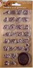 Silikónové pečiatky-Ozdobná abeceda a bordúra