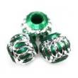 Kovové korálky 8mm-5ks v balení-smaragdovo zelené