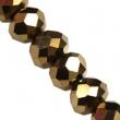 Sklenené rondelky 4.5x6 mm/10 ks v bal/Copper
