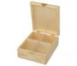 krabička na čaj 4-priehradková