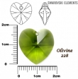 Swarovski heart pendants 6215-OLIVINE