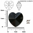 Swarovski heart pendants 6215-JET
