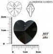 Swarovski heart pendants 6215-JET
