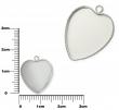 Lôžko na živicu-Srdce 15 mm