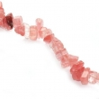 Minerálne kamene-úlomky cherry krištáľu 7-15 mm