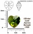 Swarovski HEART 6228 -14x14 mm,Olivine AB