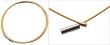 Oceľové lanko s magnetickým zapínaním 50 cm-zlaté
