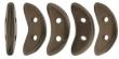 CZECH MATES CRESCENT 10x3mm-5g-Matte dark bronze
