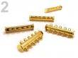 Magnetické zapínanie 5-radové ,30mm/ pozlátené