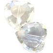Sklenené brúsené srdce 16 mm