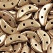 CZECH MATES CRESCENT 10x3 mm-5g-Matte metal gold