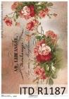Ryžový papier 210x297mm- Francúzke červené ruže