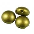 Korálky CANDY 8 mm/10 ks/Matte mettalic flax
