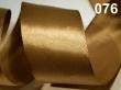 atlasová stuha 25 mm - cena za 1 m-zlatohnedá