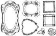 Silikónové pečiatky-Kvetinové a srdiečkové rámčeky