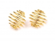 Bižutérna klietka na korálky 15x15 mm- zlatá