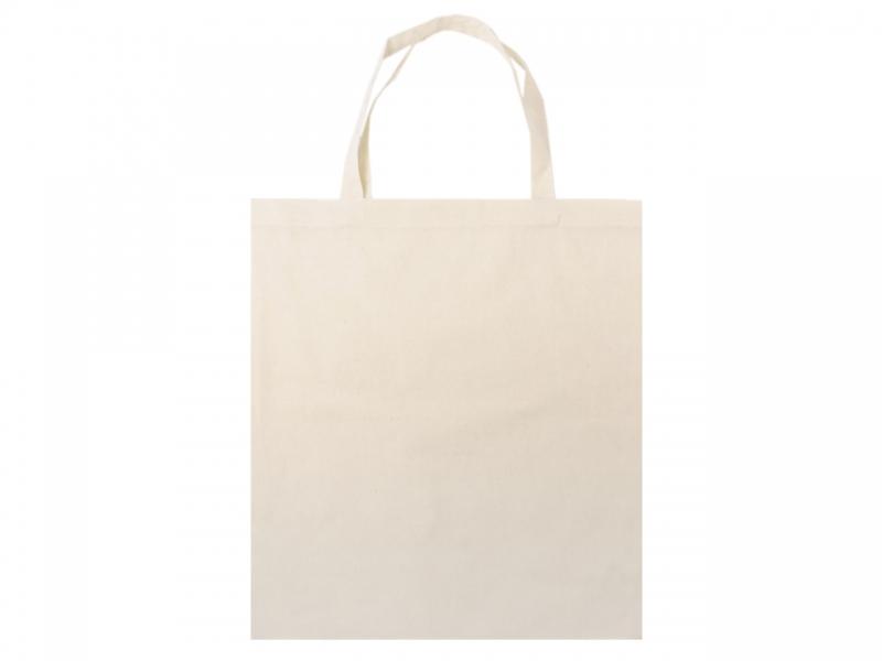 Textilná taška-ľanová-38x42 cm s krátkym uškom