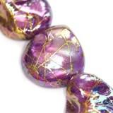 Mother of pearl nugety-fialové so zlatým odleskom